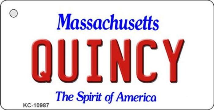 Quincy Massachusetts State License Plate Key Chain KC-10987