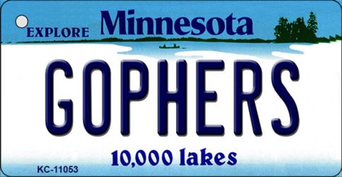 Gophers Minnesota State License Plate Novelty Key Chain KC-11053