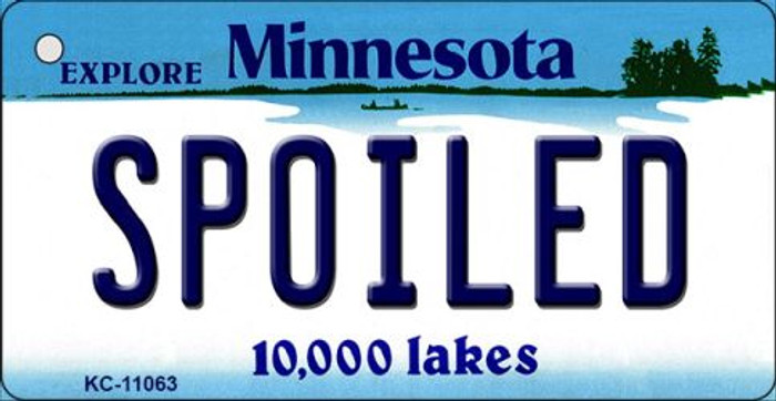 Spoiled Minnesota State License Plate Novelty Key Chain KC-11063