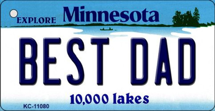 Best Dad Minnesota State License Plate Novelty Key Chain KC-11080