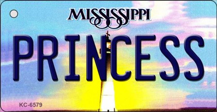 Princess Mississippi State License Plate Key Chain KC-6579