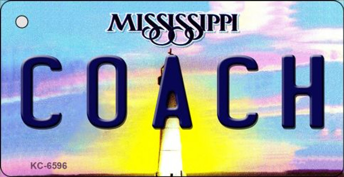 Coach Mississippi State License Plate Key Chain KC-6596