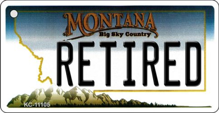 Retired Montana State License Plate Novelty Key Chain KC-11105