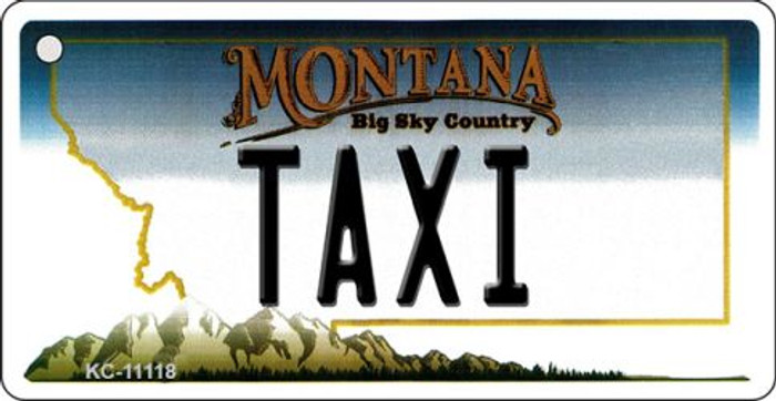 Taxi Montana State License Plate Novelty Key Chain KC-11118