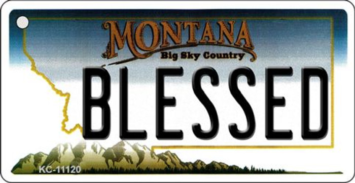 Blessed Montana State License Plate Novelty Key Chain KC-11120
