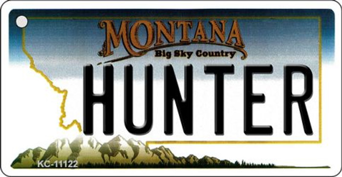 Hunter Montana State License Plate Novelty Key Chain KC-11122