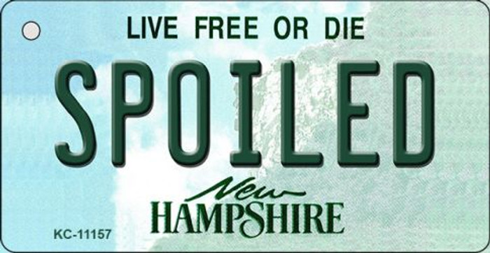Spoiled New Hampshire State License Plate Key Chain KC-11157
