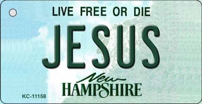 Jesus New Hampshire State License Plate Key Chain KC-11158
