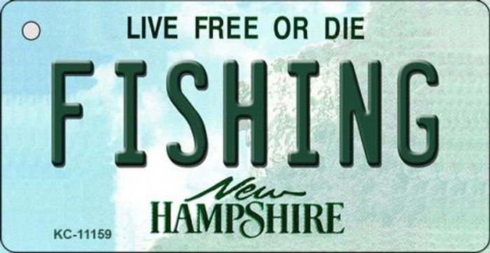 Fishing New Hampshire State License Plate Key Chain KC-11159