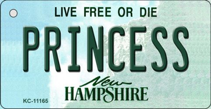 Princess New Hampshire State License Plate Key Chain KC-11165