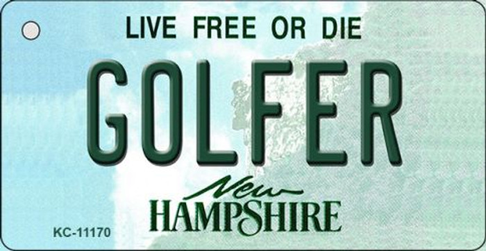 Golfer New Hampshire State License Plate Key Chain KC-11170