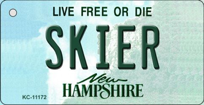 Skier New Hampshire State License Plate Key Chain KC-11172