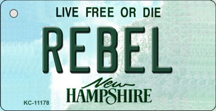 Rebel New Hampshire State License Plate Key Chain KC-11178