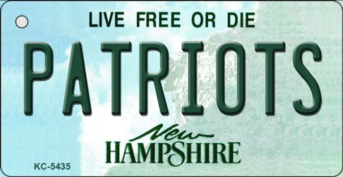 Patriots New Hampshire State License Plate Key Chain KC-5435