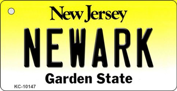 Newark New Jersey State License Plate Key Chain KC-10147