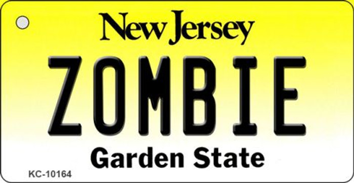 Zombie New Jersey State License Plate Key Chain KC-10164