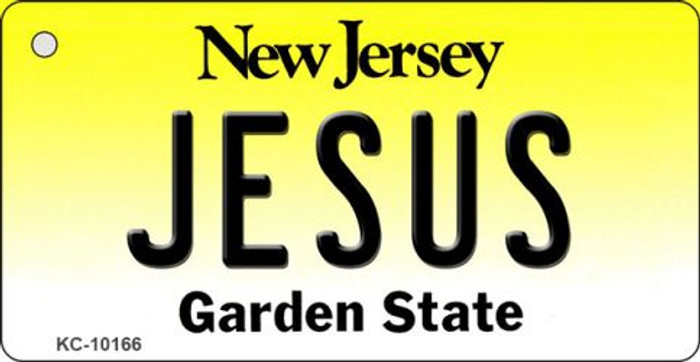 Jesus New Jersey State License Plate Key Chain KC-10166