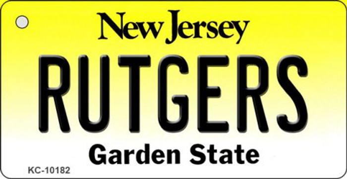 Rutgers New Jersey State License Plate Key Chain KC-10182