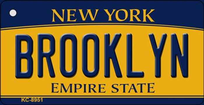 Brooklyn New York State License Plate Key Chain KC-8951