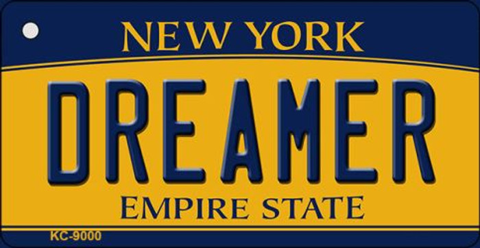 Dreamer New York State License Plate Key Chain KC-9000