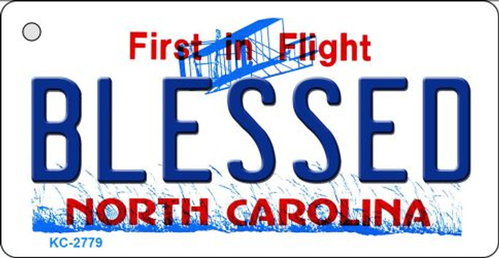 Blessed North Carolina State License Plate Key Chain KC-2779