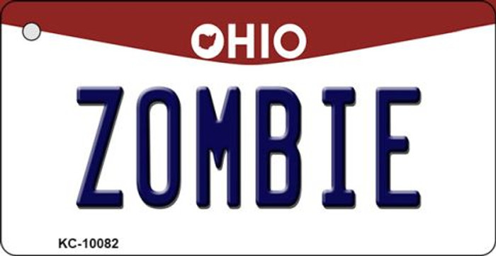 Zombie Ohio State License Plate Key Chain KC-10082