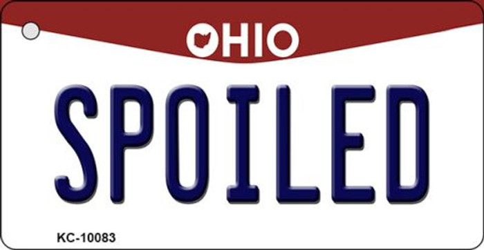 Spoiled Ohio State License Plate Key Chain KC-10083