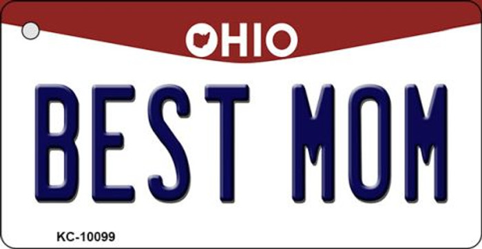 Best Mom Ohio State License Plate Key Chain KC-10099