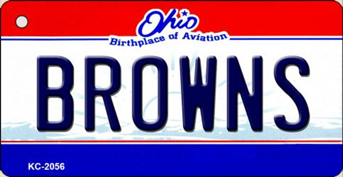 Browns Ohio State License Plate Key Chain KC-2056