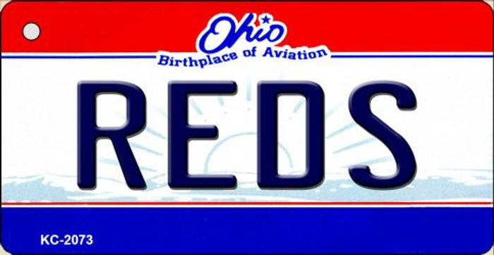 Reds Ohio State License Plate Key Chain KC-2073