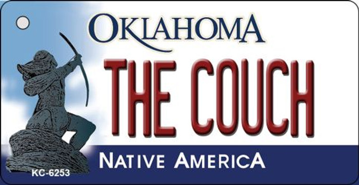 The Couch Oklahoma State License Plate Novelty Key Chain KC-6253