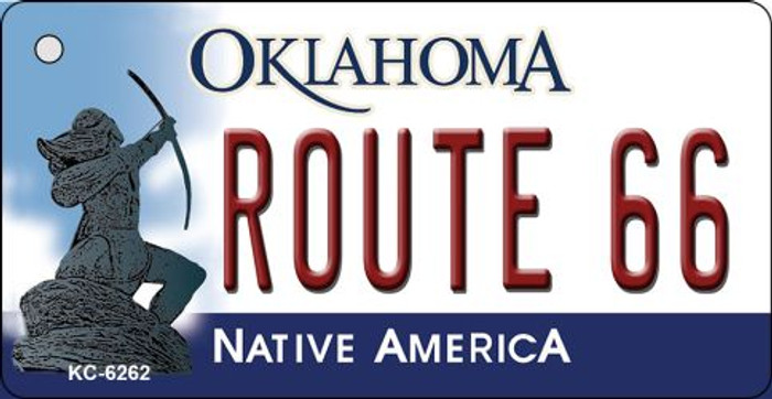 Route 66 Oklahoma State License Plate Novelty Key Chain KC-6262