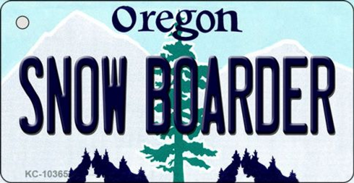 Snow Boarder Oregon State License Plate Key Chain KC-10365