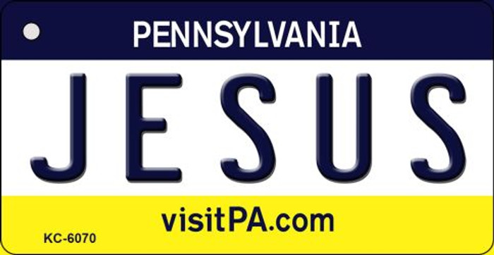 Jesus Pennsylvania State License Plate Key Chain KC-6070