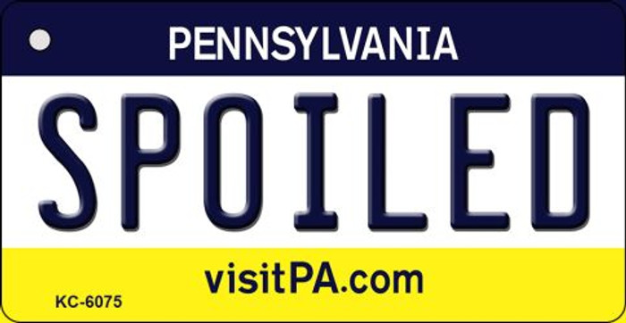 Spoiled Pennsylvania State License Plate Key Chain KC-6075