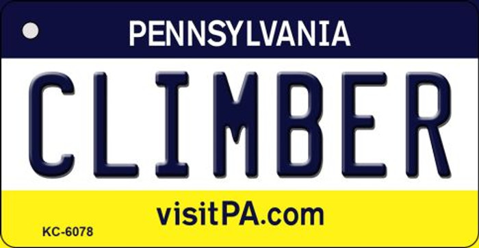 Climber Pennsylvania State License Plate Key Chain KC-6078