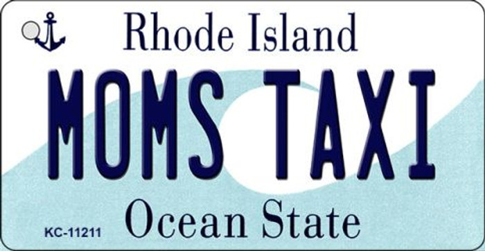 Moms Taxi Rhode Island License Plate Novelty Key Chain KC-11211