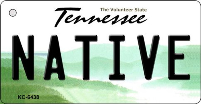 Native Tennessee License Plate Key Chain KC-6438