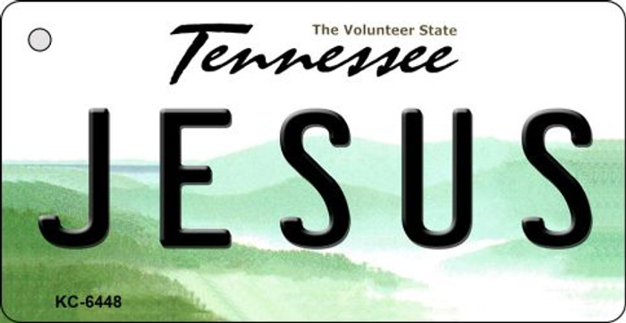 Jesus Tennessee License Plate Key Chain KC-6448