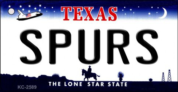 Spurs Texas State License Plate Key Chain KC-2589