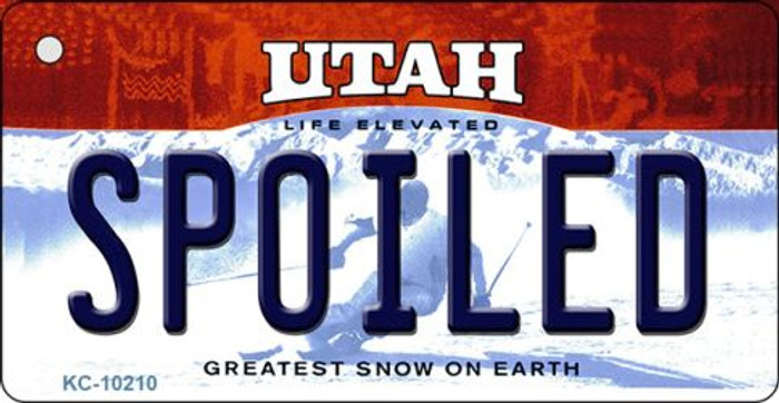 Spoiled Utah State License Plate Key Chain KC-10210