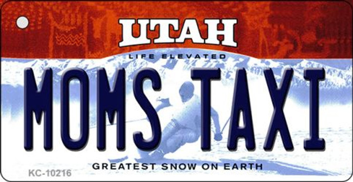 Moms Taxi Utah State License Plate Key Chain KC-10216