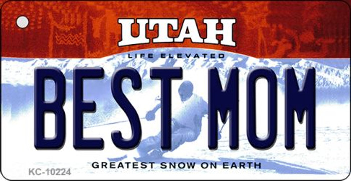 Best Mom Utah State License Plate Key Chain KC-10224