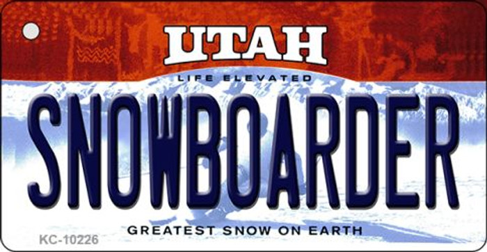 Snowboarder Utah State License Plate Key Chain KC-10226