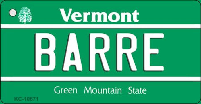 Barre Vermont License Plate Novelty Key Chain KC-10671