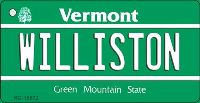 Williston Vermont State License Plate Novelty Novelty Key Chain KC-10672