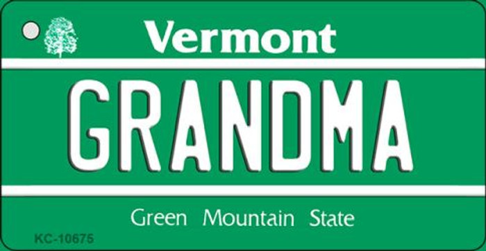 Grandma Vermont License Plate Novelty Key Chain KC-10675