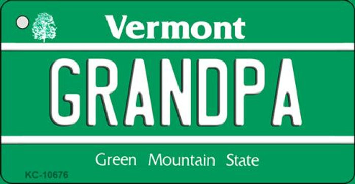 Grandpa Vermont License Plate Novelty Key Chain KC-10676