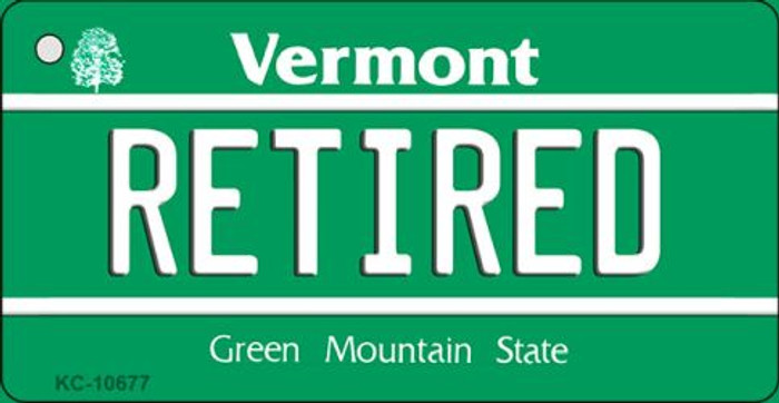 Retired Vermont License Plate Novelty Key Chain KC-10677