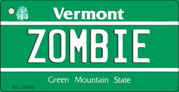 Zombie Vermont License Plate Novelty Key Chain KC-10679